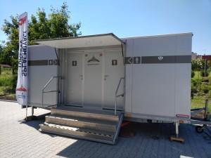 xl sanitární přívěs, pronájem Štefek